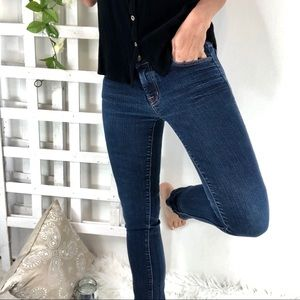 J Brand Skinny Jeans Sz 27X28 Color Ink Dark wash